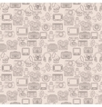 Retro media seamless pattern vector image