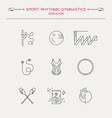 Rhythmic Gymnastics Icon Set vector image