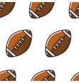 rugball or american football equipment seamless vector image