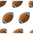 rugby ball or american football equipment seamless vector image