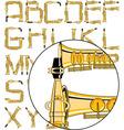 saxophone font vector image vector image