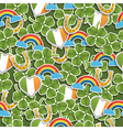 seamless irish pattern vector image vector image
