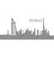 skyline of dubai vector image vector image