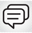 speech bubble flat icon discussion dialog logo vector image