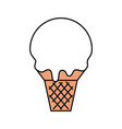 sweet ice cream cold flavor fresh tasty vector image vector image