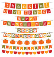 thanksgiving and fall banner decoration vector image vector image