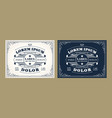 vintage label design set with an example your vector image