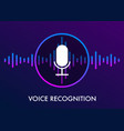 voice recognition concept and personal assistant vector image vector image