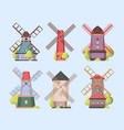 windmill holland dutch authentic constructions vector image