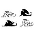 Heraldic griffins vector image