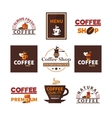 Coffee Shop Cafe Design Emblems Collection vector image