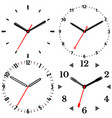 a set of four mechanical clocks vector image vector image