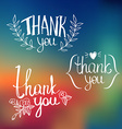 A set of style Thank You design elements vector image vector image
