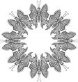 Amazing fly butterflies vector image vector image