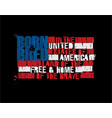 american text flag - land of the free home vector image vector image