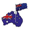 australian flag map vector image