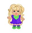 Baby Girl In Puple Dress vector image