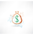 bag of money grunge icon vector image vector image