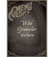 black chalkboard with a granular texture vector image