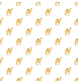 Camel pattern cartoon style vector image vector image