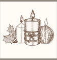 candles group hand draw sketch vector image vector image