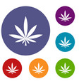 Cannabis leaf icons set