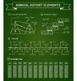 Chalkboard infographics elements vector image vector image