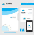 clouds business logo file cover visiting card and vector image vector image