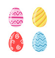 Colored easter eggs pattern with different style