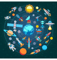 Composition Of Space Icons vector image vector image
