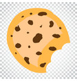 cookie flat icon chip biscuit dessert food vector image vector image