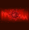 coronavirus financial crisis banner concept vector image