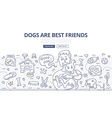 Dogs Care Doodle Concept vector image vector image