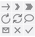 dots icons vector image