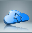 download cloud arrows icon vector image