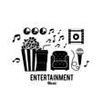 entertainments icons design vector image