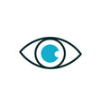 eye optical medical icon line fill vector image
