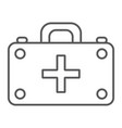 first aid kit thin line icon medicine and vector image vector image