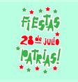 flat fiestas patrias design card with text fiestas vector image vector image