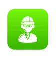 foreman icon green vector image vector image