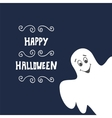 Halloween Background with Ghost vector image vector image