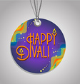 Happy Diwali label vector image