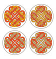 heart celtic cross ethnic ornament vector image vector image
