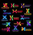 letter x corporate identity creative colorful sign vector image vector image