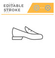 loafer shoe editable stroke line outline icon vector image vector image