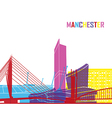 Manchester skyline pop vector image vector image