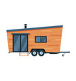 modern mobile home for summer trip family tourism vector image vector image