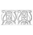 mural frieze-like decoration the temple of esneh vector image vector image