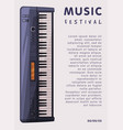 music festival banner with electronic piano vector image vector image