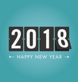 new-year-2018-timetable-blue-green vector image vector image